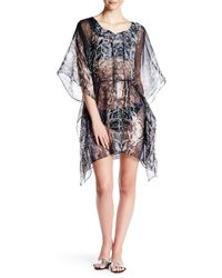 Saachi - Black Animal Print Beach Cover-up - Lyst