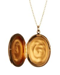 Argento Vivo - Metallic 18k Gold Plated Sterling Silver Large Oval Locket Necklace - Lyst