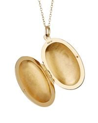 Argento Vivo - Metallic 18k Gold Plated Sterling Silver Oval Locket Necklace - Lyst