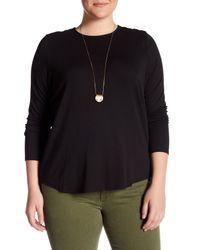 Workshop - Black Long Sleeve Crewneck Shirt (plus Size) - Lyst