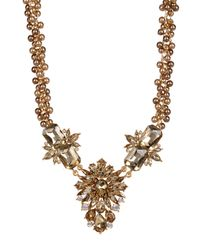 Carolee - Multicolor Big Floral Stone Frontal Beaded Necklace - Lyst