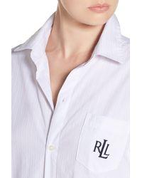Lauren by Ralph Lauren - White His Sleep Shirt - Lyst