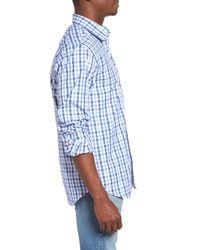 Jeremy Argyle Nyc | Blue Comfort Fit Check Sport Shirt for Men | Lyst