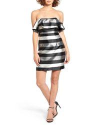 Way-in | Multicolor Metallic Stripe Strapless Body-con Dress (juniors) | Lyst