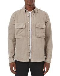 Topman   Natural Utility Pocket Shirt for Men   Lyst
