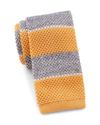 Tommy Hilfiger | Yellow Shine Stripe Silk Tie for Men | Lyst