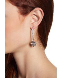 Jenny Packham - Multicolor Pave Glass Crystal Burst Linear Threader Drop Earrings - Lyst