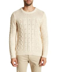 Gant Rugger | Natural Chunky Cable Knit Sweater for Men | Lyst