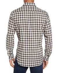 Culturata - Gray Trim Fit Check Sport Shirt for Men - Lyst