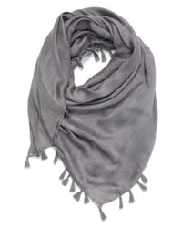 Hinge - Gray Open Stitch Panel Scarf - Lyst