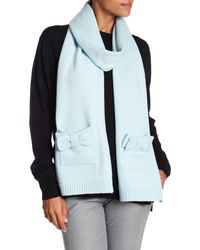 Kate Spade - Blue Bow Detailed Scarf - Lyst