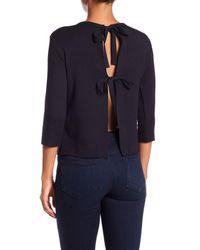 Bailey 44 - Blue Tiffany Tie Back Fleece Top - Lyst
