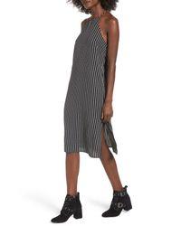 Soprano - Black High Neck Shift Dress - Lyst
