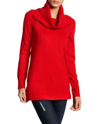 French Connection | Red Babysoft Cowl Neck Sweater | Lyst