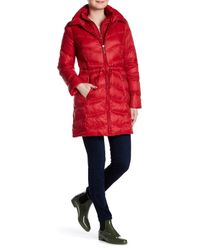 Ellen Tracy | Red Packable Down Jacket | Lyst