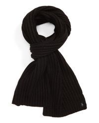 Polo Ralph Lauren - Black Chunky Rib Knit Scarf for Men - Lyst