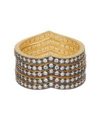 Freida Rothman - Metallic Contemporary Deco Cz Accent King Of Hearts Ring Set - Lyst