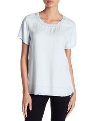 Two By Vince Camuto - White Faded Chambray Tee - Lyst