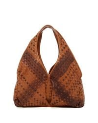 Sondra Roberts | Brown Woven Leather Shoulder Bag | Lyst