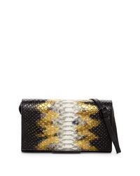 Kendall + Kylie - Black Hailey Snake Embossed Leather Convertible Crossbody - Lyst