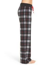 Make + Model - Black Fleece Pajama Pants - Lyst