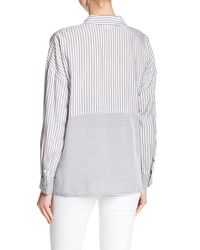 Two By Vince Camuto - Blue Mixed Stripe Shirt - Lyst
