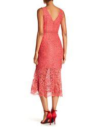Nanette Nanette Lepore - Multicolor V-neck Sheath Lace Dress - Lyst