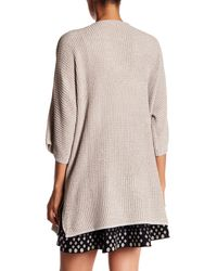 Max Studio - Natural Bell Sleeve Waffle Knit Cardigan Sweater - Lyst