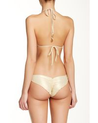 Luli Fama - Orange Delicia Crochet Wavey Brazilian Bikini Bottom - Lyst