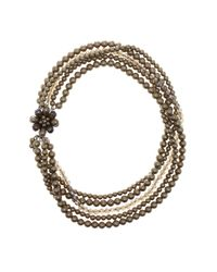 Carolee | Multicolor Multi-strand Simulated Pearl Flower Necklace | Lyst