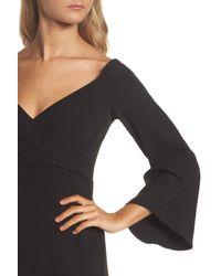 Bardot - Black Ava Bell Sleeve Dress - Lyst