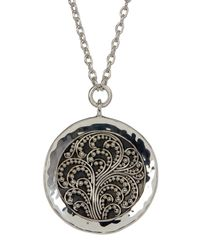 Lois Hill - Metallic Sterling Silver Handmade Granulated Pendant Necklace - Lyst