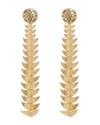 House of Harlow 1960 - Metallic Dorado Long Drop Earrings - Lyst