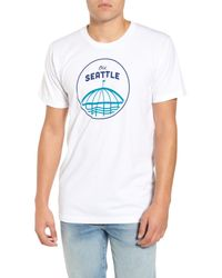 Casual Industrees - White Old Seattle Graphic T-shirt for Men - Lyst