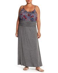 aa19b77d669 Lyst - Bobeau Convertible Maxi Skirt (plus Size) in Gray