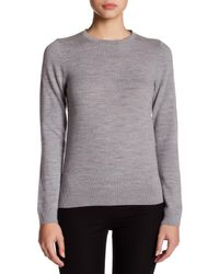 French Connection - Gray Wool Sparkle Collar Sweater - Lyst