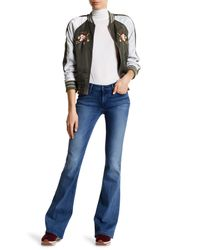 Black Orchid Blue Mia Mid Rise Skinny Flare Jeans