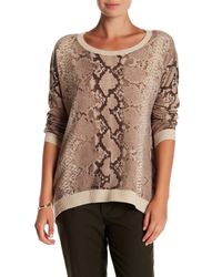 Acrobat - Brown Pattern Hi-lo Pullover - Lyst