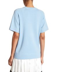 Marc Jacobs | Blue Short Sleeve Crew Neck Pullover | Lyst