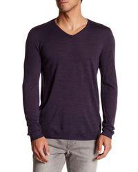 John Varvatos - Purple V-neck Sweater for Men - Lyst
