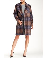 Trina Turk | Multicolor Scarlett Plaid Coat | Lyst