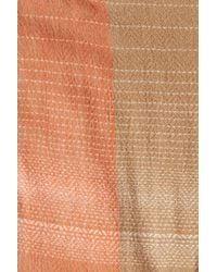 Modena - Natural Jacquard Woven Blanket Scarf - Lyst
