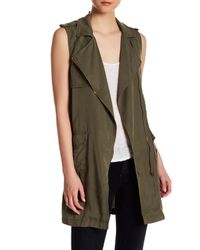 Dex | Green Asymmetric Zip Vest | Lyst