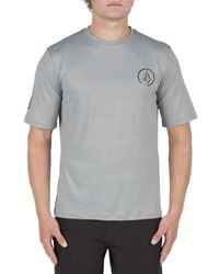 Volcom | Gray Short Sleeve Rashguard for Men | Lyst