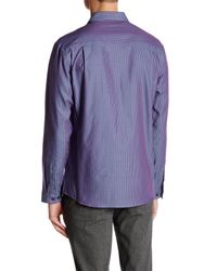 Vince Camuto - Blue Contemporary Fit Stripe Sport Shirt for Men - Lyst