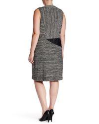 Rachel Roy - Black Patch Dress (plus Size) - Lyst