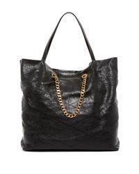 Lanvin | Black Sugar Medium Quilted Leather Shopper | Lyst