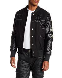 American Stitch Black Varsity Letter Man Jacket for men
