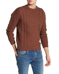 Barque | Brown Fisherman's Cable Knit Sweater for Men | Lyst