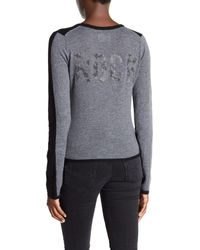 Zadig & Voltaire - Black Long Sleeve Cashmere Colorblock Cardigan - Lyst